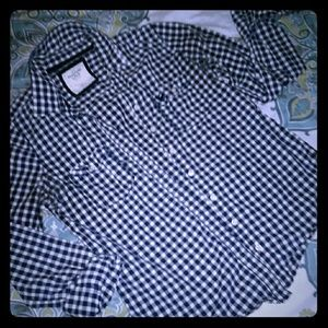 💟Abercrombie & Fitch checkered button up💟